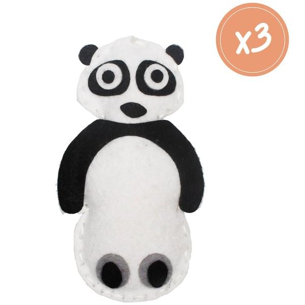 Kit Couture - Panda en feutrine - 3 pcs - Photo n°2