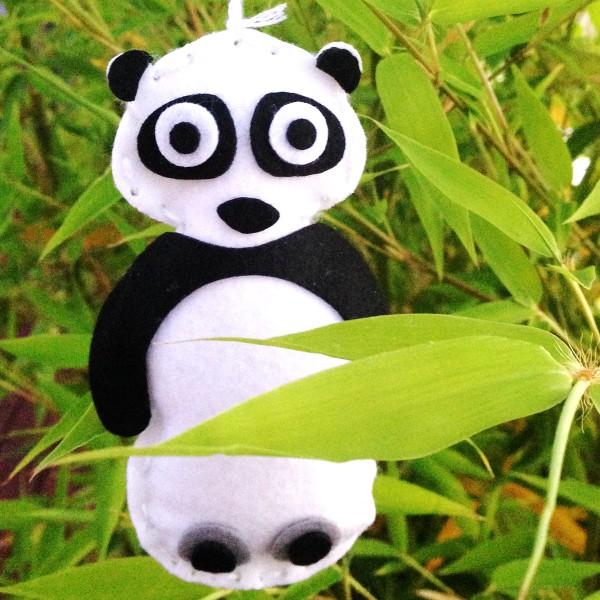 Kit Couture - Panda en feutrine - 3 pcs - Photo n°3