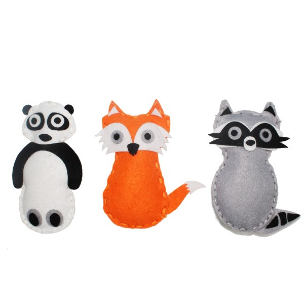 Kit Couture - Renard, Panda et Raton laveur - 3 pcs - Photo n°2