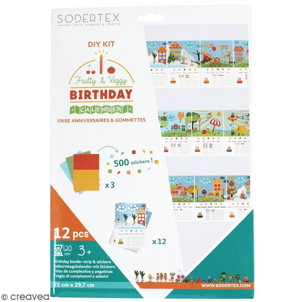 Kit gommettes - Calendrier perpétuel - 500 pcs - Photo n°1