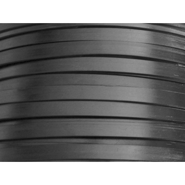 2,5 M/ètres Fil Aluminium Plat Noir 10mm