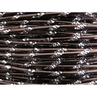 5 Mètres fil aluminium ciselé chocolat mat 2mm