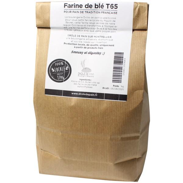 Farine de blé français T65 - 1 kg - Photo n°2