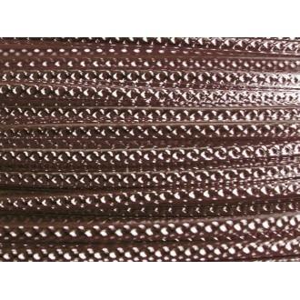 5 Mètres fil aluminium strié chocolat mat 2mm