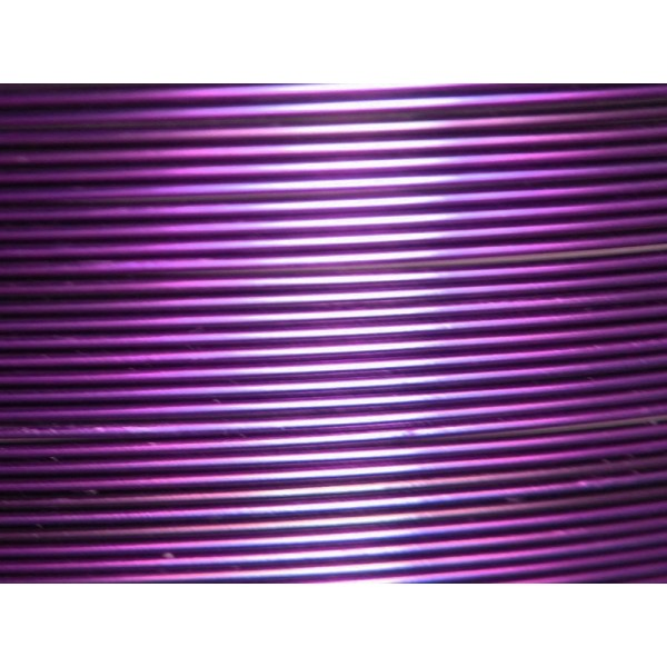 5 Mètres fil aluminium aubergine 0.8mm - Photo n°1