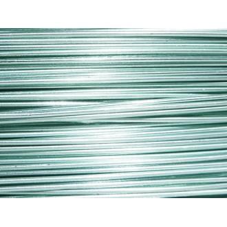 10 Mètres fil aluminium bleu glacé 0.8 mm