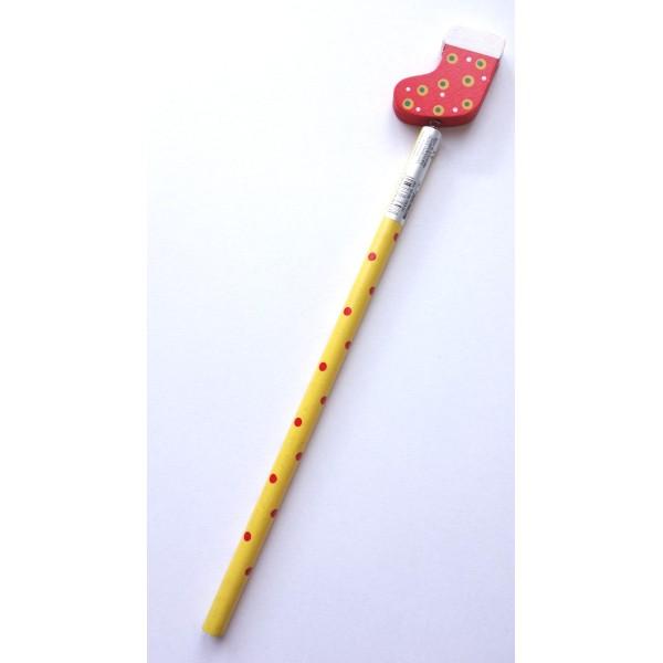 Crayon à papier de Noël - Chaussette de Noël - Photo n°1