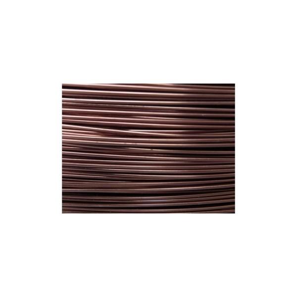 5 Mètres fil aluminium chocolat mat 0.8mm - Photo n°1
