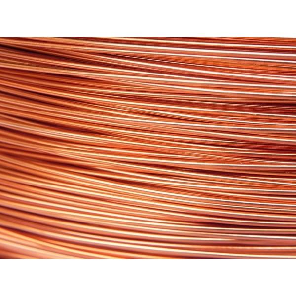 10 Mètres fil aluminium cuivre 0.8 mm - Photo n°1