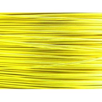 5 Mètres fil aluminium jaune soleil 0.8mm