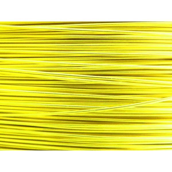10 Mètres fil aluminium jaune soleil 0.8 mm - Photo n°1