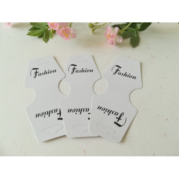 Supports carton blanc pour présentoirs bracelets ou colliers x 10 - Photo n°1