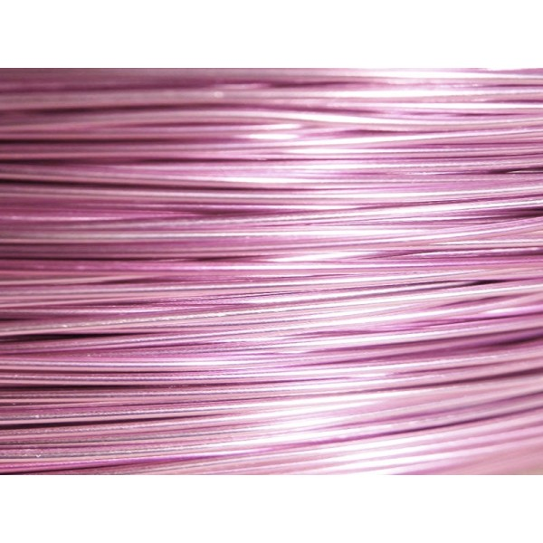 15 Mètres fil aluminium rose 0.8 mm - Photo n°1