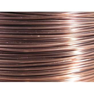 15 Mètres fil aluminium rose ancien 0.8 mm