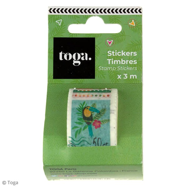 Masking tape timbre Toga - Tropical Green - 3 m - Photo n°2