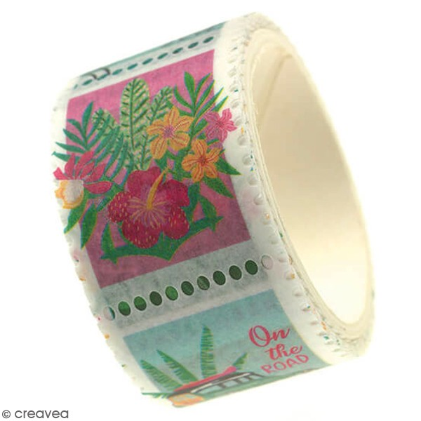 Masking tape timbre Toga - Tropical Green - 3 m - Photo n°1