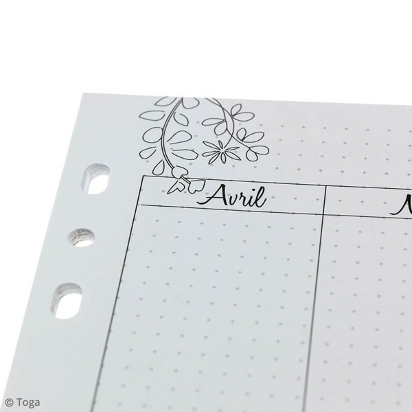 Pages pour Planner - Mois - A5 - 37 pages - Photo n°2