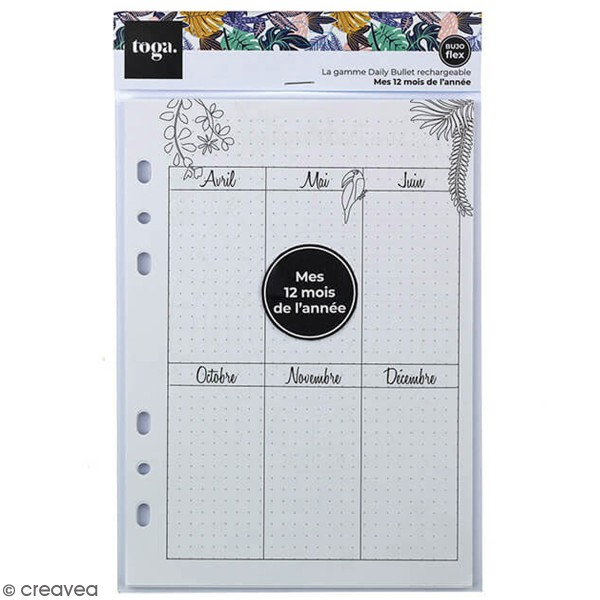 Pages pour Planner - Mois - A5 - 37 pages - Photo n°1