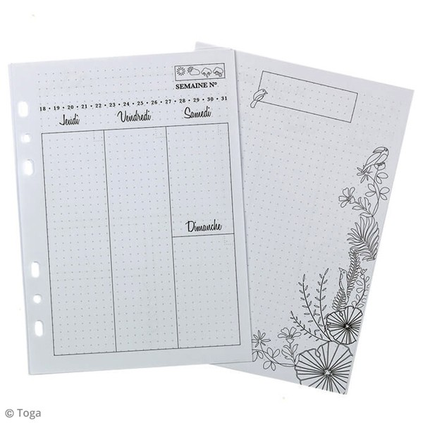 Pages pour Planner - Semaine - A5 - 104 pages - Photo n°2