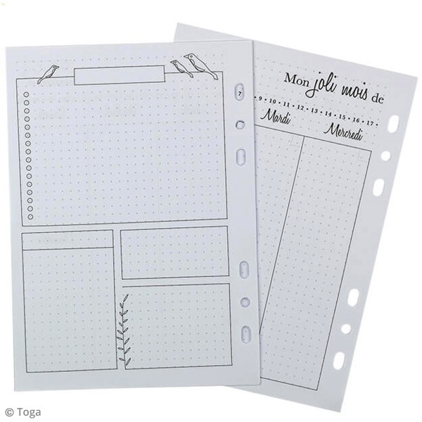 Pages pour Planner - Semaine - A5 - 104 pages - Photo n°3
