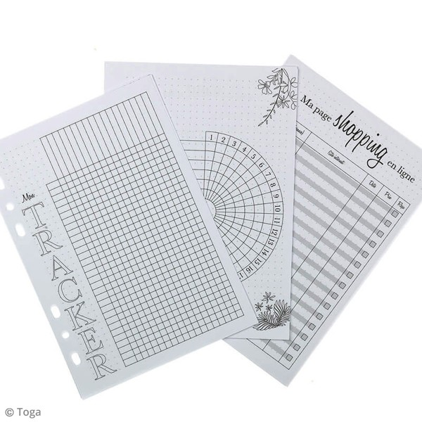 Pages pour Planner - Tracker - A5 - 48 pages - Photo n°2