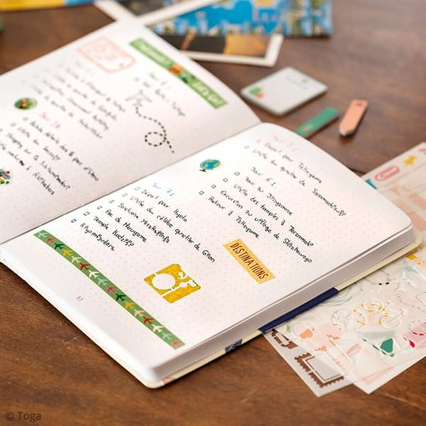 Kit Scrapbooking Formes et Stickers - Carnet de voyages - Photo n°3