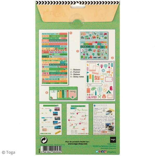 Kit Scrapbooking Formes et Stickers - Carnet de voyages - Photo n°4