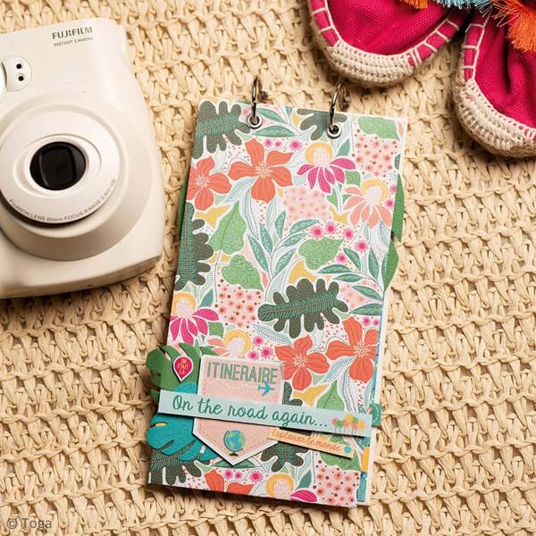 Papier scrapbooking Toga 30,5 x 30,5 cm - Tropial Green - 6 feuilles - Photo n°2