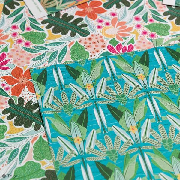 Papier scrapbooking Toga 30,5 x 30,5 cm - Tropial Green - 6 feuilles - Photo n°3