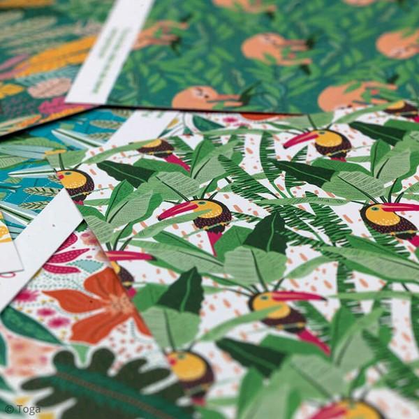 Papier scrapbooking Toga 30,5 x 30,5 cm - Tropial Green - 6 feuilles - Photo n°4