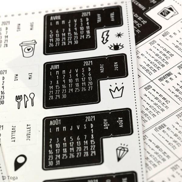 Stickers Onglets Agenda - Juillet 2020/Décembre 2021 - 18 pcs - Photo n°2
