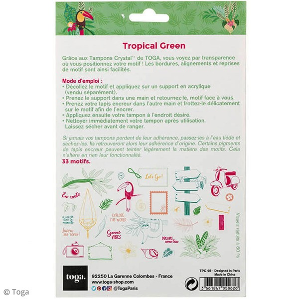 Tampon clear Toga - Tropical Green - 33 pcs - Photo n°3
