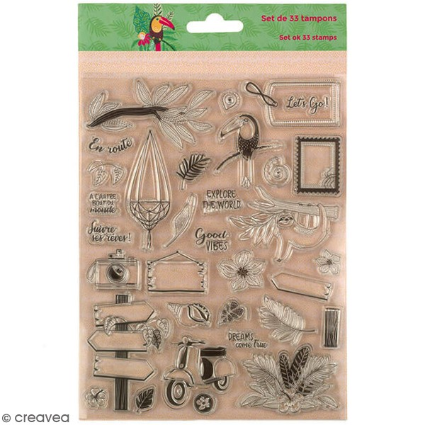 Tampon clear Toga - Tropical Green - 33 pcs - Photo n°1