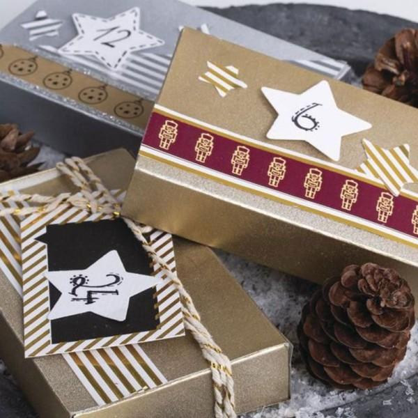 2 Masking tape Boules de Noël et casse-noisettes 15 mm x 10 m - Photo n°2