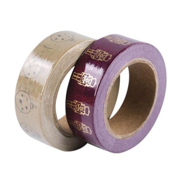 2 Masking tape Boules de Noël et casse-noisettes 15 mm x 10 m - Photo n°3