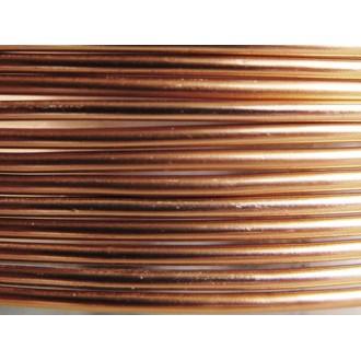 10 Mètres fil aluminium marron 1,5mm