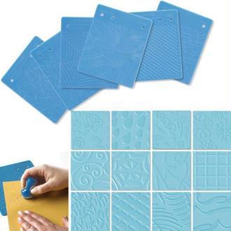 Set de 6 plaques de texture B motifs x 12
