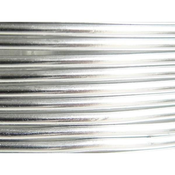 5 Mètres fil aluminium argent 3mm - Photo n°1