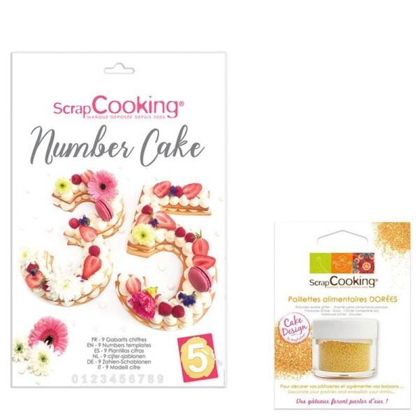 Coffret Number cake + paillettes dorées - Photo n°1