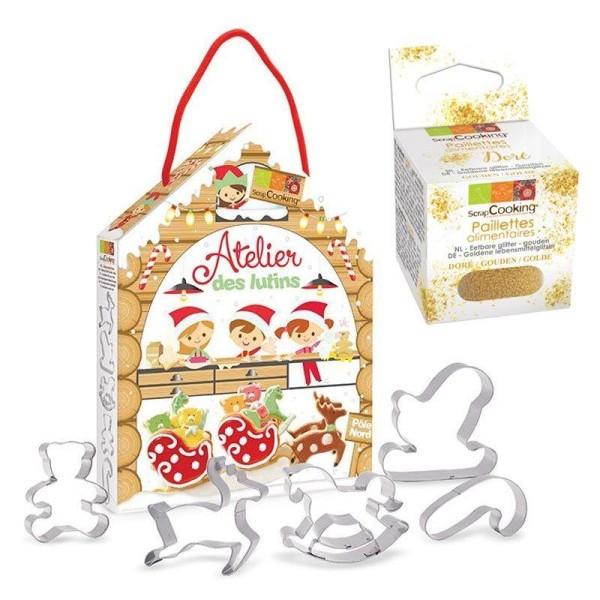 Kit pâtisserie Atelier des lutins + paillettes dorées - Photo n°1