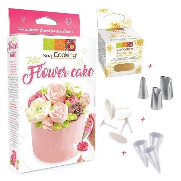 Coffret Flower Cake + paillettes dorées - Photo n°1