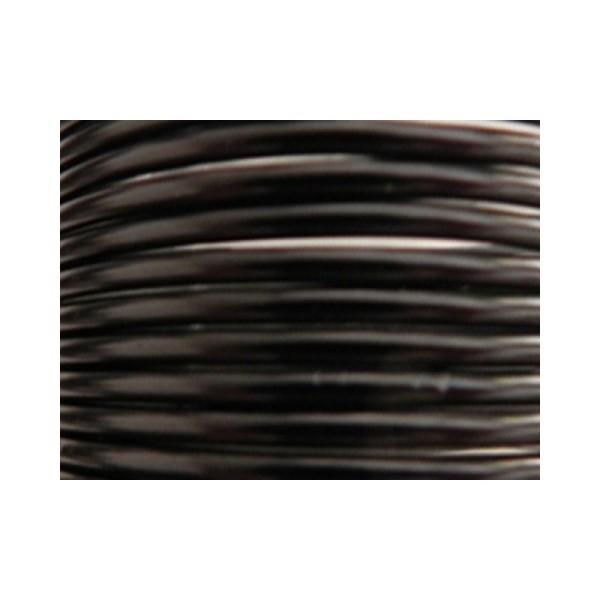 10 Mètres fil aluminium noir 3mm - Photo n°1