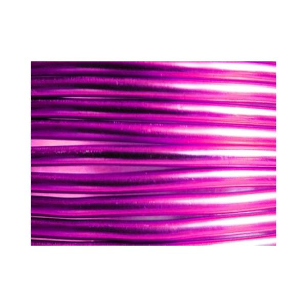 10 Mètres fil aluminium rose vif 3mm - Photo n°1
