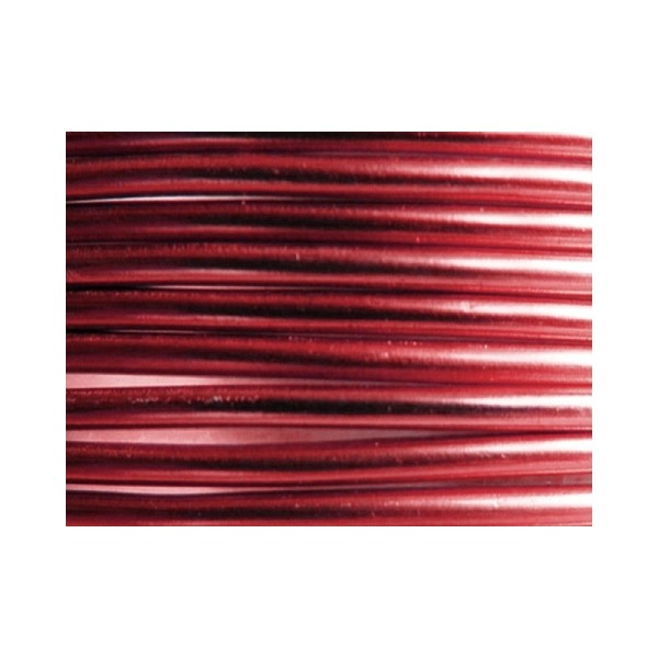10 Mètres fil aluminium sang de boeuf 3mm - Photo n°1