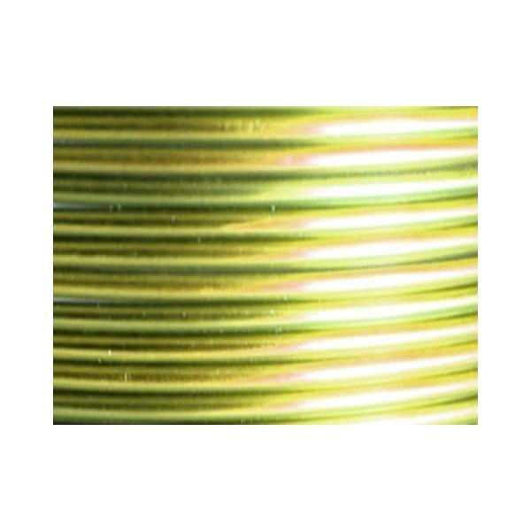 10 Mètres fil aluminium vert pomme 3mm - Photo n°1
