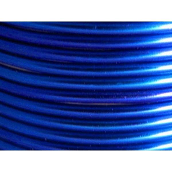 2 Mètres fil aluminium bleu royal 3mm - Photo n°1