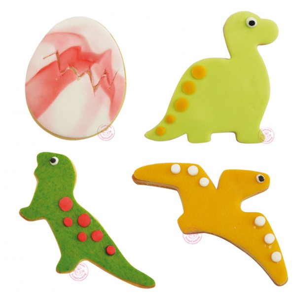 Emporte pièces inox - Dinosaures - 4 pcs - Photo n°2