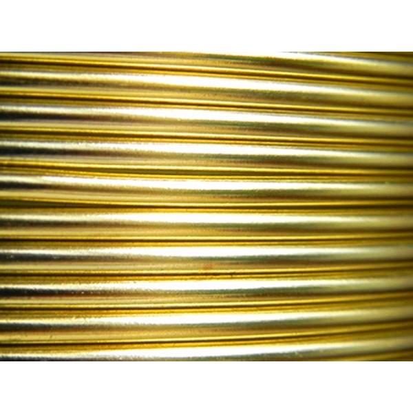 5 Mètres fil aluminium jaune soleil 3mm - Photo n°1