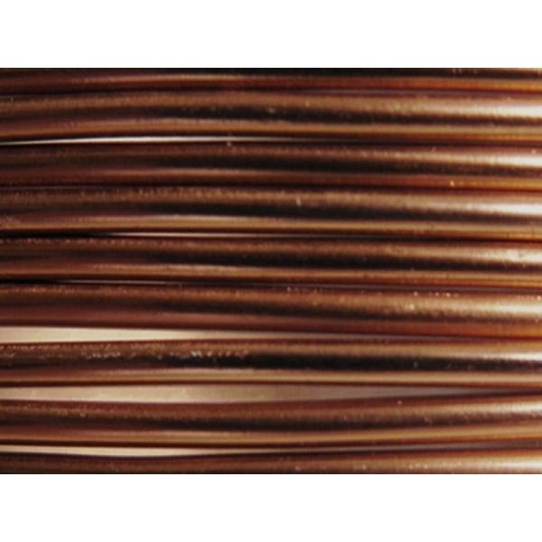 10 Mètres fil aluminium chocolat mat 3mm - Photo n°1