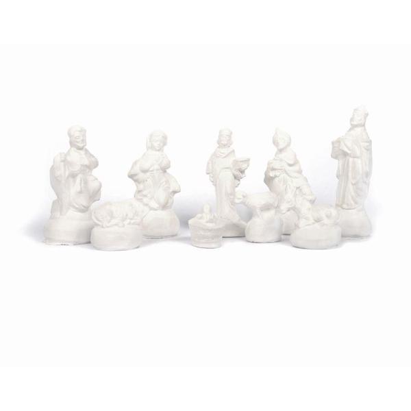 9 moules en latex Santons - Crèche de Noël + Céramique à froid 1 kg - Photo n°2